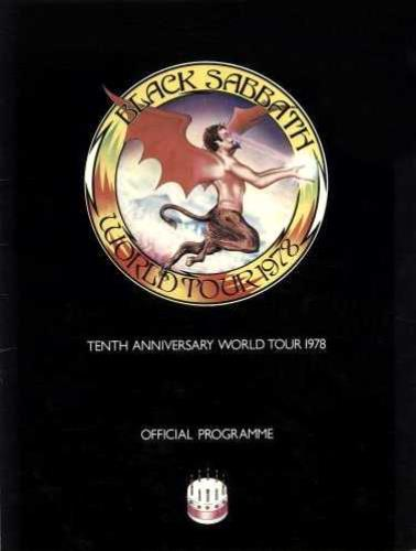Black Sabbath Tenth Anniversary World Tour 1978 + Ticket Stub 1978 UK tour programme TOUR PROGRAMME