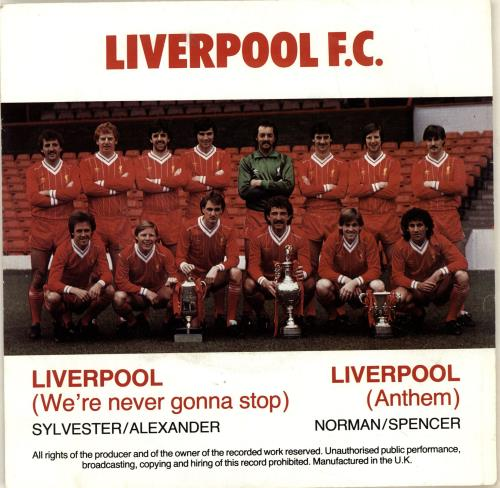 """Image of Liverpool FC Liverpool [Anthem] - Red Vinyl - Picture Sleeve 1983 UK 7"""" vinyl MEAN102"""