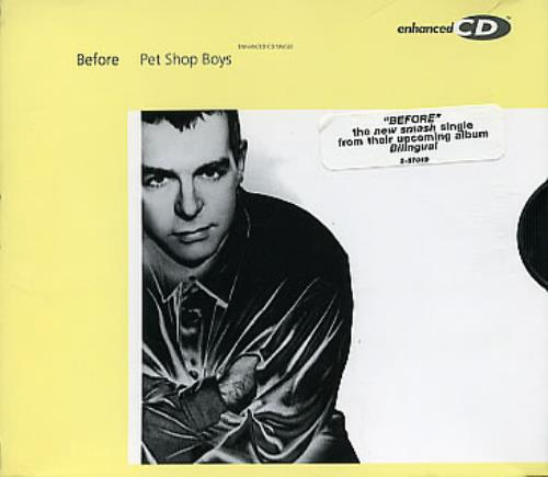 Pet Shop Boys Before  3track Enhanced 1996 USA CD single 870492