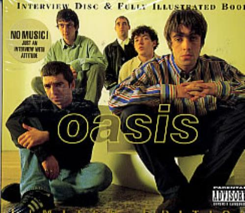 Oasis Interview Disc & Fully Illustrated Book 1996 UK CD album SAM7023