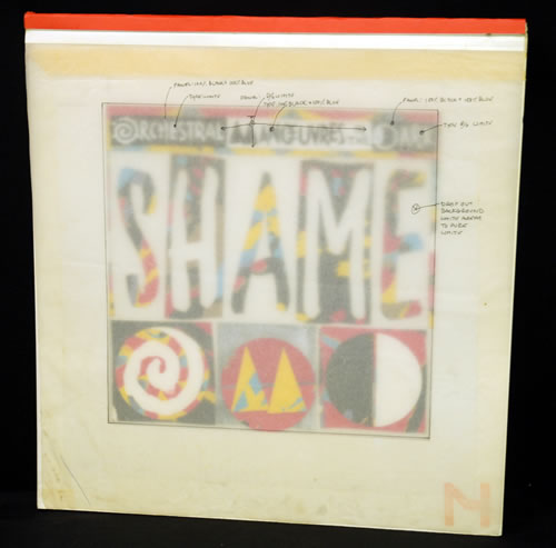 OMD Shame  Bromide Artwork 1987 UK artwork ARTWORK