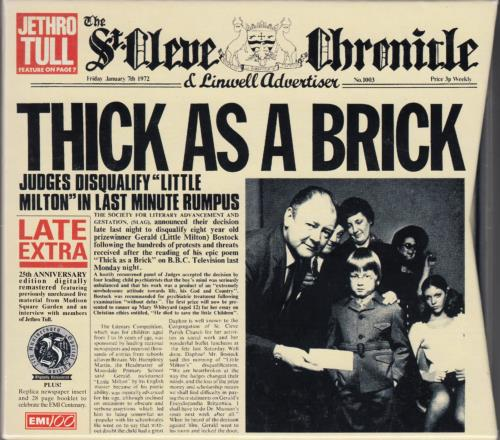Jethro Tull - Thick As A Brick + Newspaper