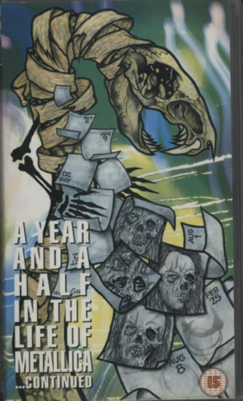 Metallica A Year And A Half In The Life Of  Part 2 1992 UK video 0860683
