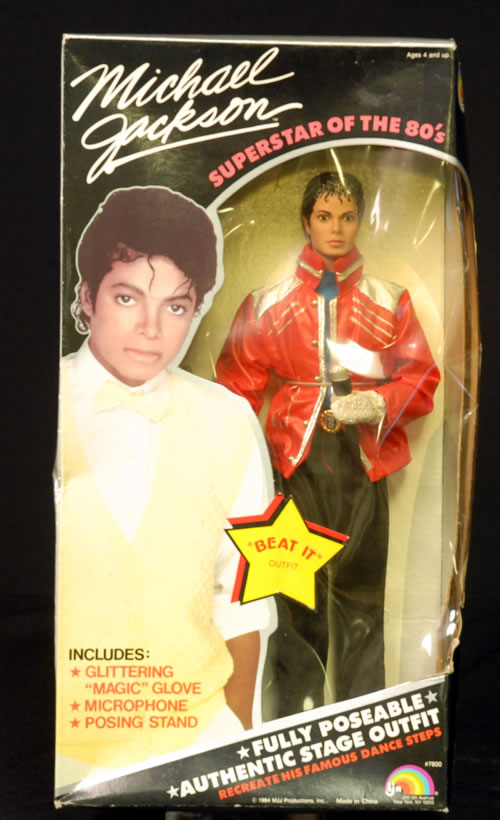 Michael Jackson Superstar Doll  Beat It Outfit 1984 USA memorabilia DOLL