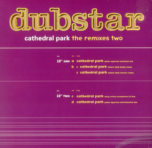 Dubstar Cathedral Park - The Remixes Two 1997 UK 12\