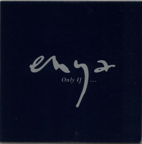 Enya Only If 1997 UK CD single WEA143CDDJ