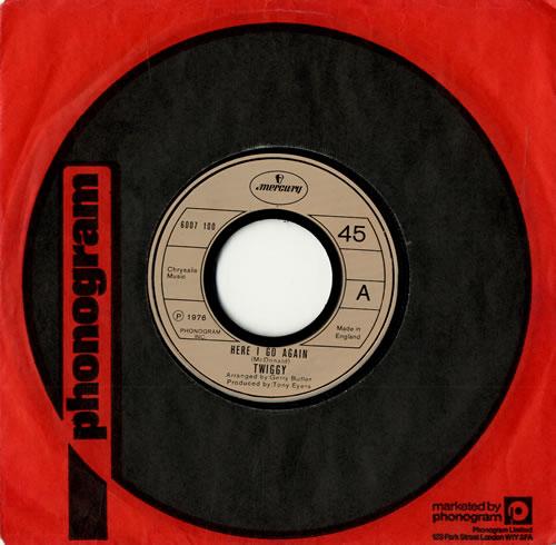 Twiggy Here I Go Again  Jukebox 1976 UK 7 vinyl 6007100