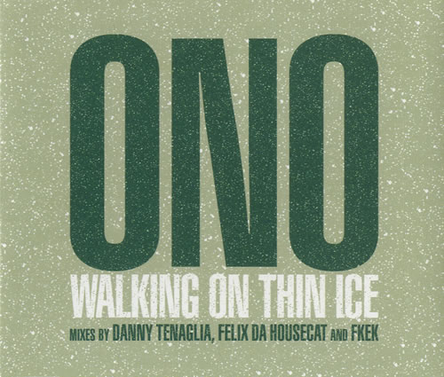 Yoko Ono Walking On Thin Ice 2-CD single set (Double CD single) UK ONO2SWA247337
