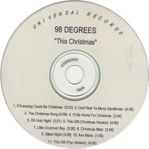 98 Degrees This Christmas US Promo CD-R acetate (146371)