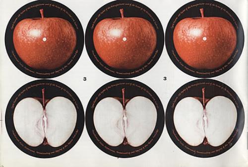 Apple Label Unused Sheet Of Twenty Four Red Apple Labels