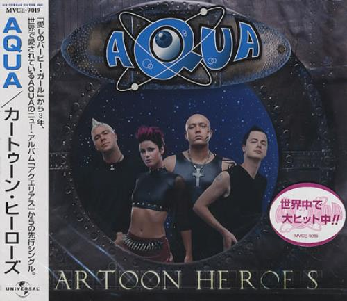 Aqua Cartoon Heroes - Sealed Japanese Promo CD single (CD5 ...