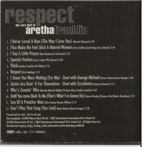 Aretha Franklin Respect The Very Best Of Uk Promo Cd Album