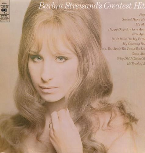 Barbra Streisand Greatest Hits 80s Red Uk Vinyl Lp Album