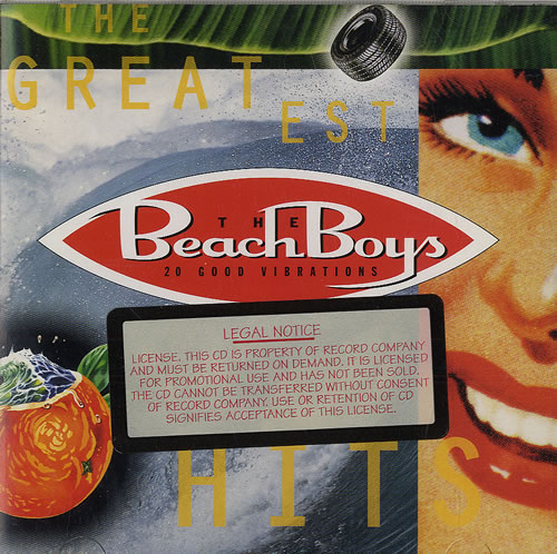 Beach Boys 20 Good Vibrations The Greatest Hits Us Promo