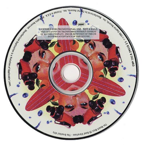Beach Boys 20 Good Vibrations The Greatest Hits Us Promo