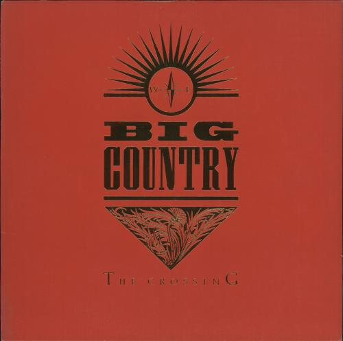 Big Country The Crossing Gold Promo Stamped Red Amp Gold