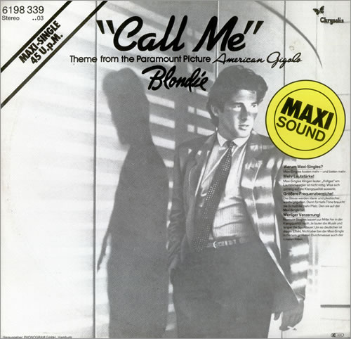 blondie call me german 12quot vinyl single 12 inch record