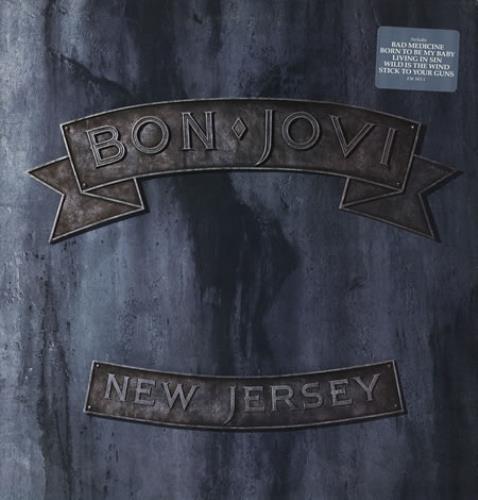 Bon Jovi New Jersey US Promo vinyl LP album (LP record) (536)