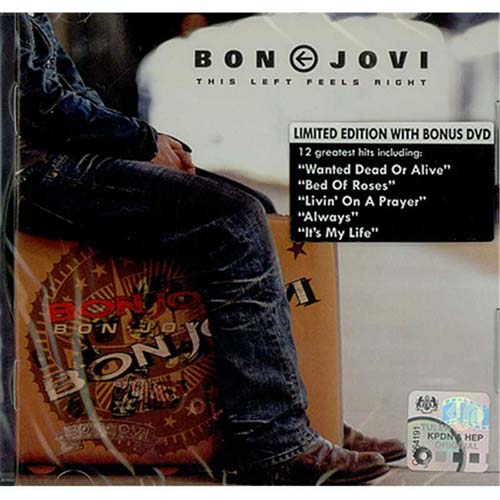Bon Jovi This Left Feels Right Malaysia 2 Disc Cd Dvd Set