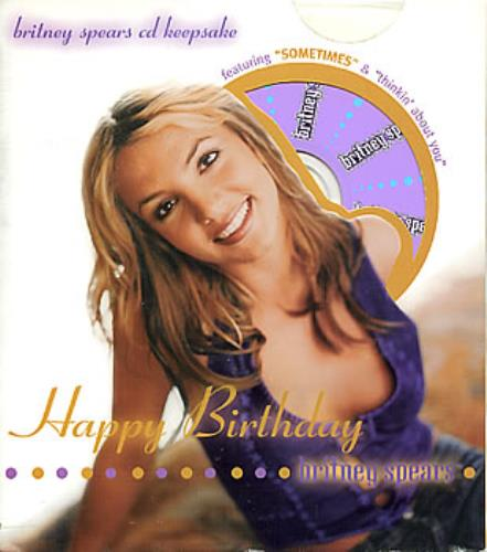 "britney spears sometimes us cd single cd / "", Birthday card"
