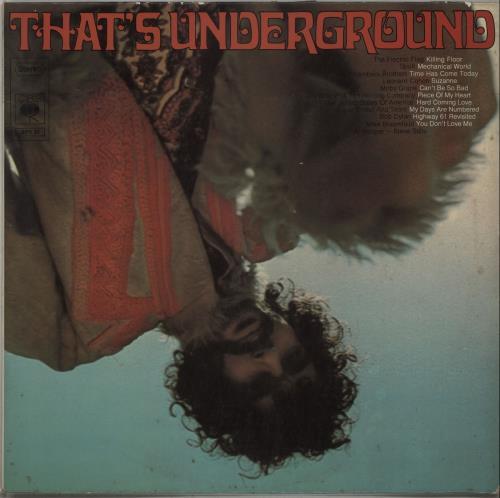 Cbs Records That S Underground German Vinyl Lp Album Lp