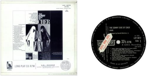 Cher The Sonny Side Of Cher Sample Uk Vinyl Lp Album Lp