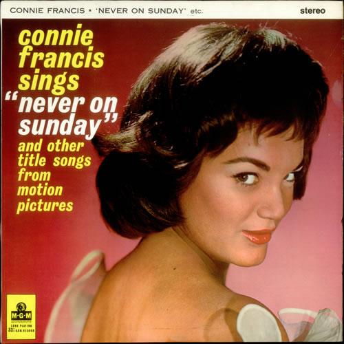 Connie Francis Never On Sunday Uk Vinyl Lp Album Lp