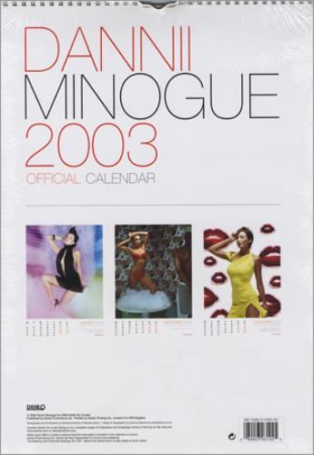 Dannii Minogue Official Calendar 2003 UK calendar (225428) 102