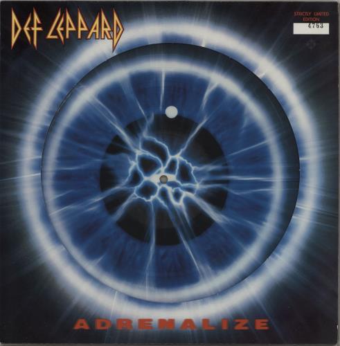 Def Leppard Adrenalize Uk Picture Disc Lp Vinyl Picture