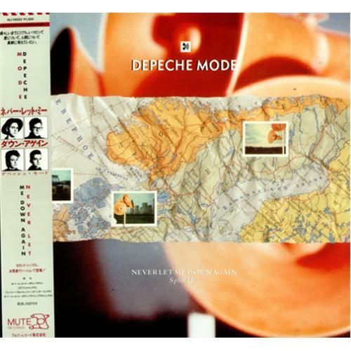 depeche mode never let me down again split mix japanese 12 vinyl single 12 inch record. Black Bedroom Furniture Sets. Home Design Ideas