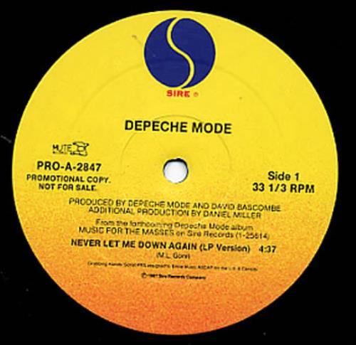 depeche mode never let me down again us promo 12 vinyl single 12 inch record maxi single 7906. Black Bedroom Furniture Sets. Home Design Ideas