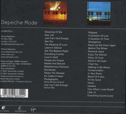 Depeche Mode The Singles 81 Gt 98 Uk Box Set 197370