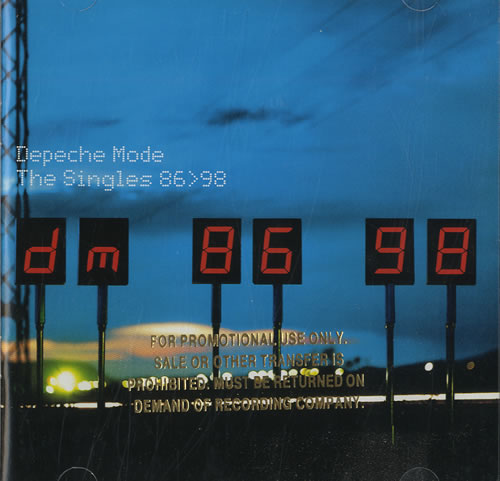 Depeche Mode The Singles 86 Gt 98 Us Promo 3 Cd Album Set