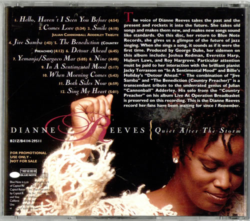 Dianne Reeves Quiet After The Storm Us Promo Cd Album