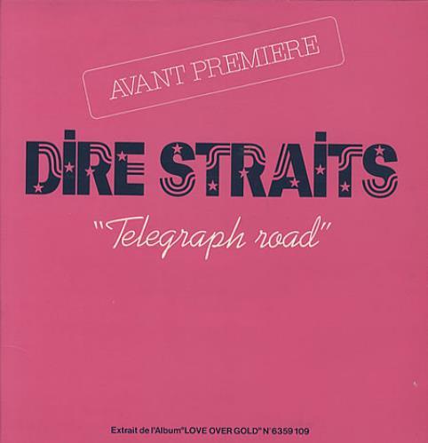 Dire Straits Telegraph Road P S French Promo 12 Quot Vinyl
