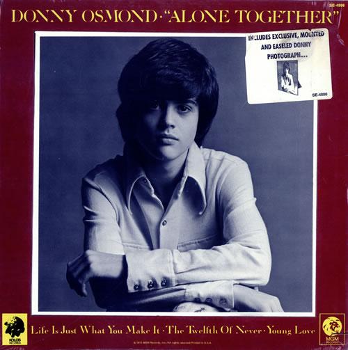 Donny Osmond Alone Together Sealed Us Vinyl Lp Album Lp