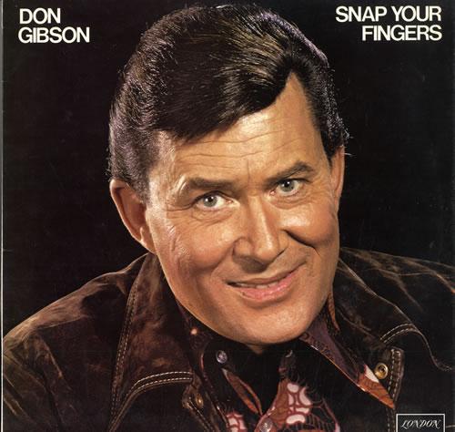 Don Gibson Snap Your Fingers Uk Vinyl Lp Album Lp Record
