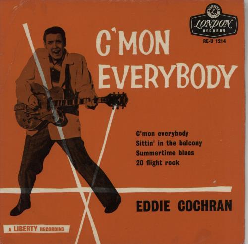 Eddie Cochran C Mon Everybody Ep 1st Uk 7 Quot Vinyl Single