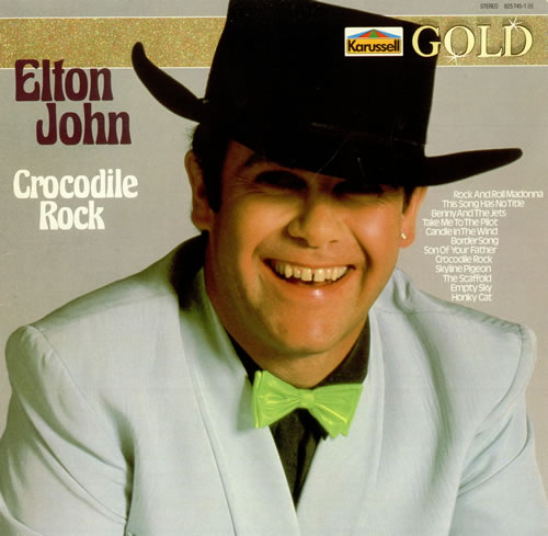 Elton John Crocodile Rock German Vinyl Lp Album Lp Record