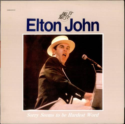Elton John Sorry Seems To Be The Hardest Word Korean Vinyl