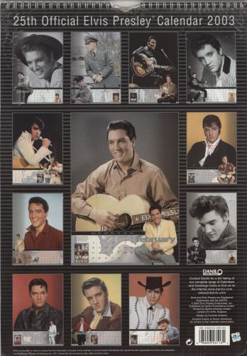 Elvis Presley Calendar 2003 UK calendar (225429) 113