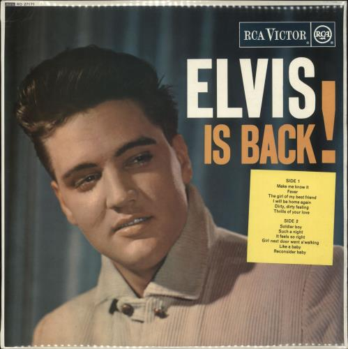Elvis Presley Elvis Is Back Red Spot Single Pocket Uk