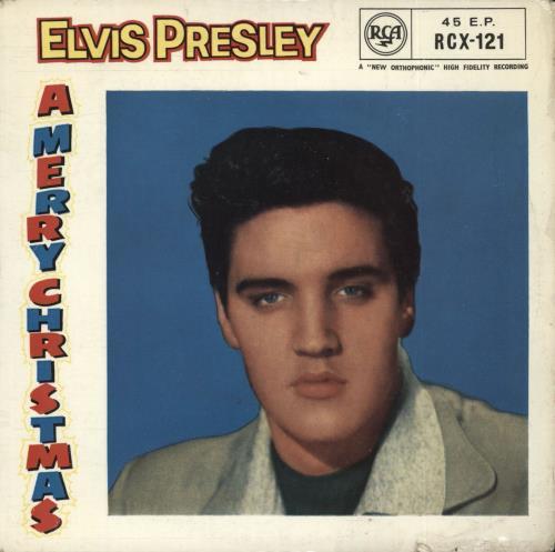 """Elvis Presley Elvis Sings Christmas Songs EP - Round Centre 7"""" vinyl single (7 inch record) UK ELV07EL471967"""