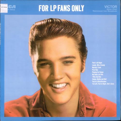 Elvis Presley For Lp Fans Only Black Rca Label Us Vinyl