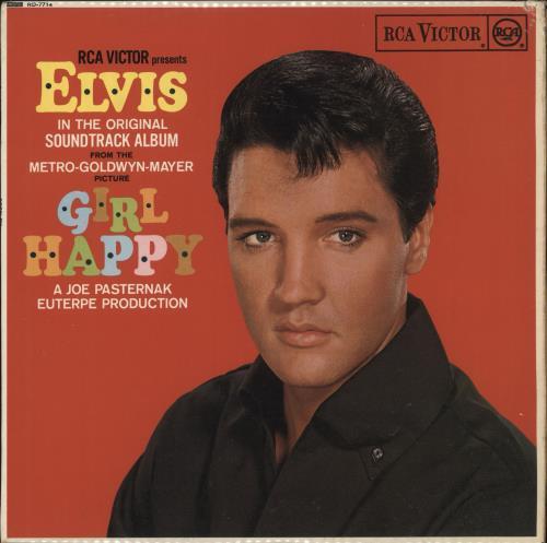 Elvis Presley Girl Happy Red Spot Uk Vinyl Lp Album Lp
