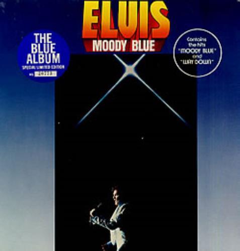 Elvis Presley Moody Blue Blue Vinyl Canadian Vinyl Lp