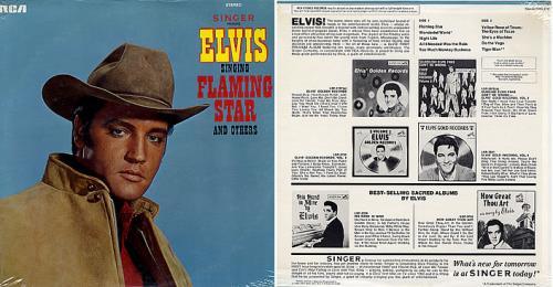Elvis Presley Singer Presents Elvis Singing Flaming Star