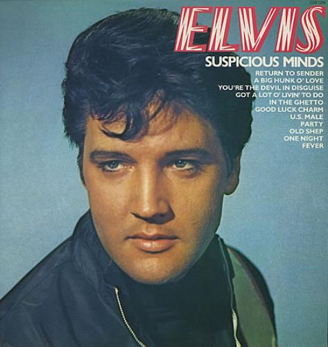 Elvis Presley Suspicious Minds Uk Vinyl Lp Album Lp