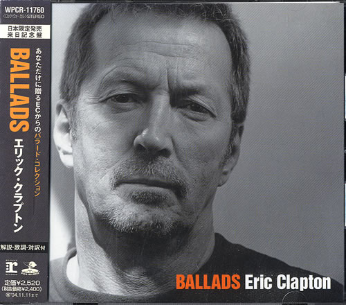 Eric Clapton Ballads Obi Japanese Cd Album Cdlp 276509