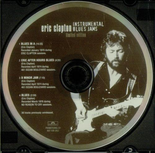 Eric Clapton Instrumental Blues Jams Us Promo Cd Single